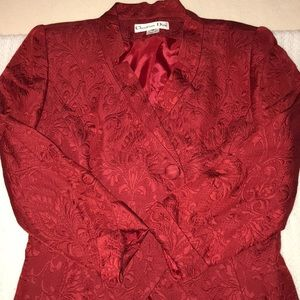 DIOR BROCADE DRESS COAT